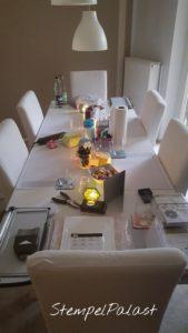 Workshoptisch in meinem Kreativraum im Hemelingen in Workshops & Termine