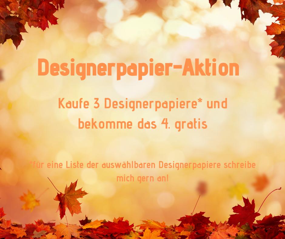 Designerpapier-Aktion Werbebild