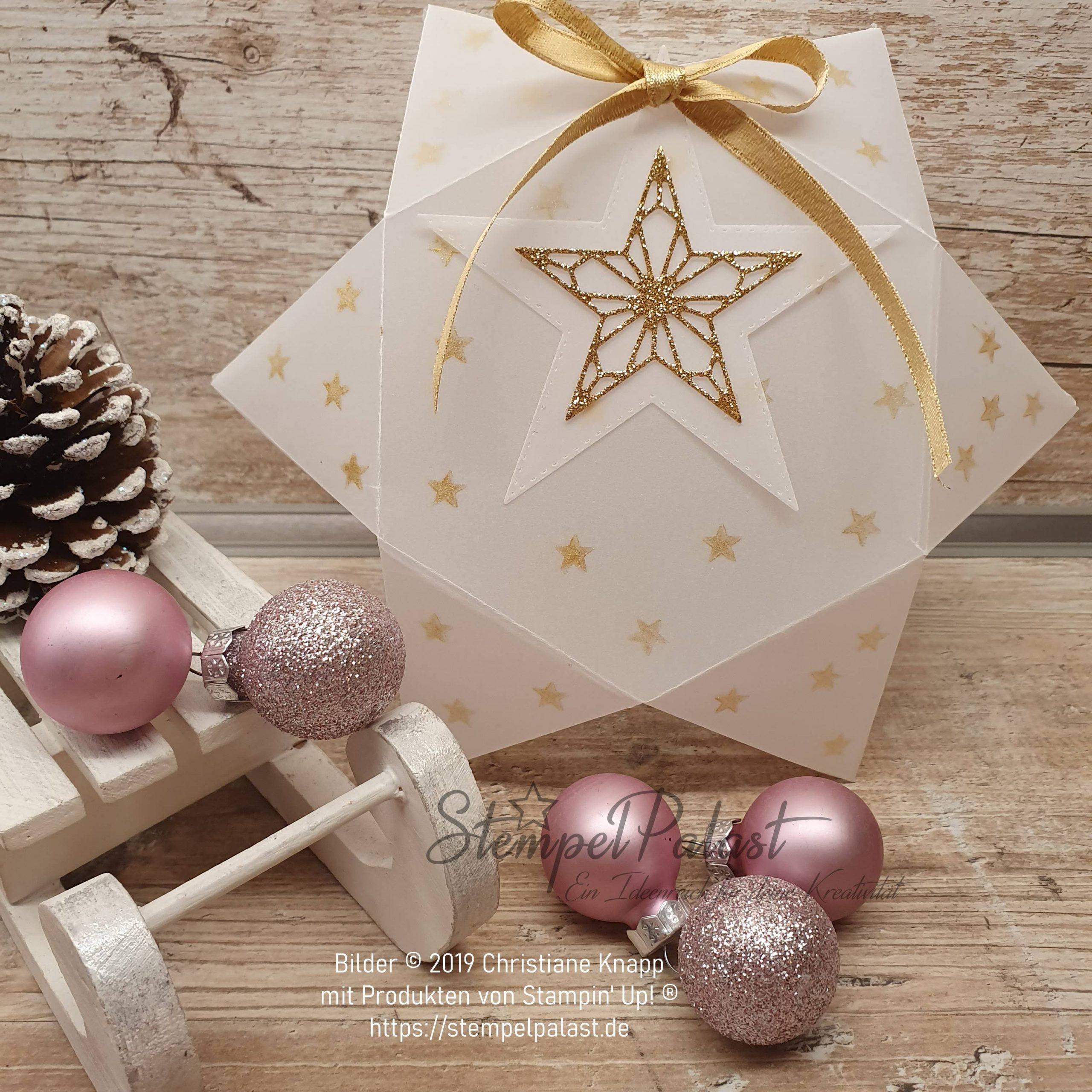 Weihnachtliche Sternenverpackung im Adventskalender vom 03.12.2019