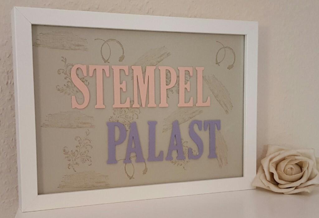 das erste selbstgebastelte Logo vom StempelPalast