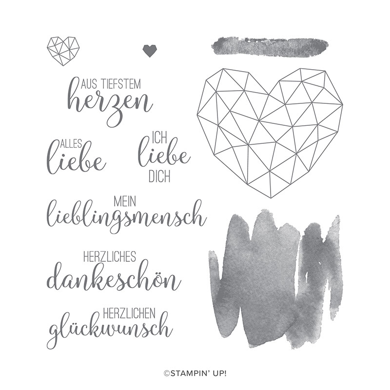 Stempelset Kunst mit Herz von Steffi Helmschrott